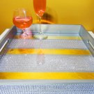 Exotic Goldiamonds Mix Luxury 15x15 Serving Tray High Gloss Resin Coat