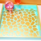 Tiger Sky Luxury 15x15 Serving Tray High Gloss Resin Coat