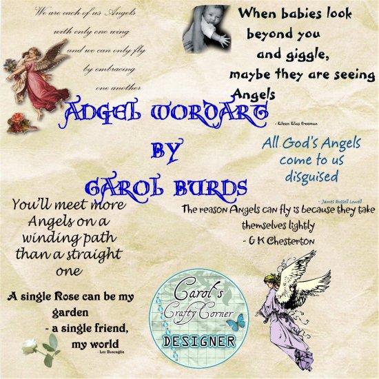 ANGEL WORD ART