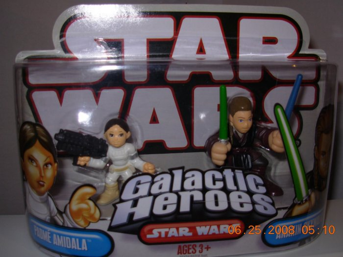 STAR WARS GALACTIC HEROES PADME AMIDALA AND ANAKIN SKYWALKER