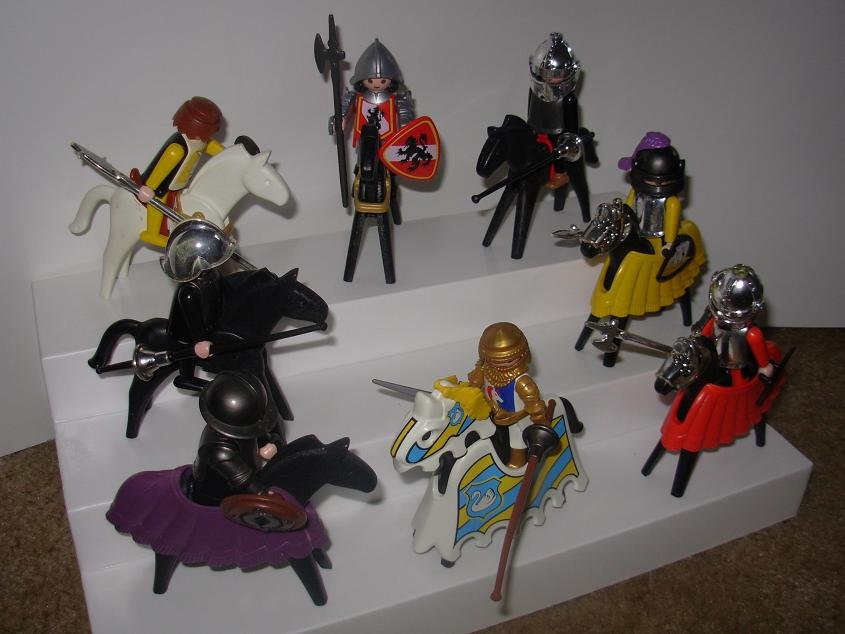 Playmobile Geofra Figures Knights Horses Weapons