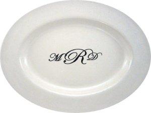 Monogram Signature Guestbook Platter