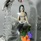 Hear the Sirens, Mermaid Necklace, Hand Sculpted,Bottle Necklace