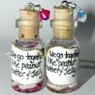 We Go Together Like PB & J! Bottle Necklace Set