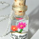Spring Showers Bring May Flowers, Bottle Necklace