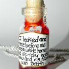 Death is Coming! Headless Horseman Bottle Necklace