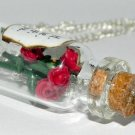 Roses Are Red, Violets Are Blue, Bottle Necklace