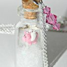 When Pigs Fly! Bottle Necklace