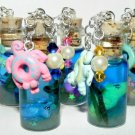 Baby Seahorse with Floating Toy, Bottle Necklace