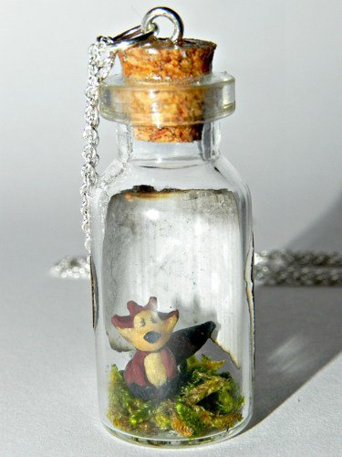 What Does the Fox Say? Bottle Necklace