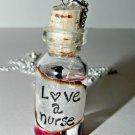 Love a Nurse Bottle Necklace