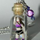 I just want is a hula hoop! Tiny Hula Hoop Dancer Bottle Necklace