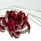 Slip Sliding Away! Octopus/Seashell Necklace, Hand Sculpted