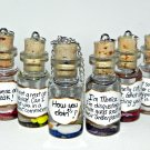 Friends Inspired Necklaces, Collect All Six! Bottle Necklaces, Handmade, Hand Sculpted
