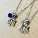Zodiac Sign: Libra necklace, Scales of Justice charm