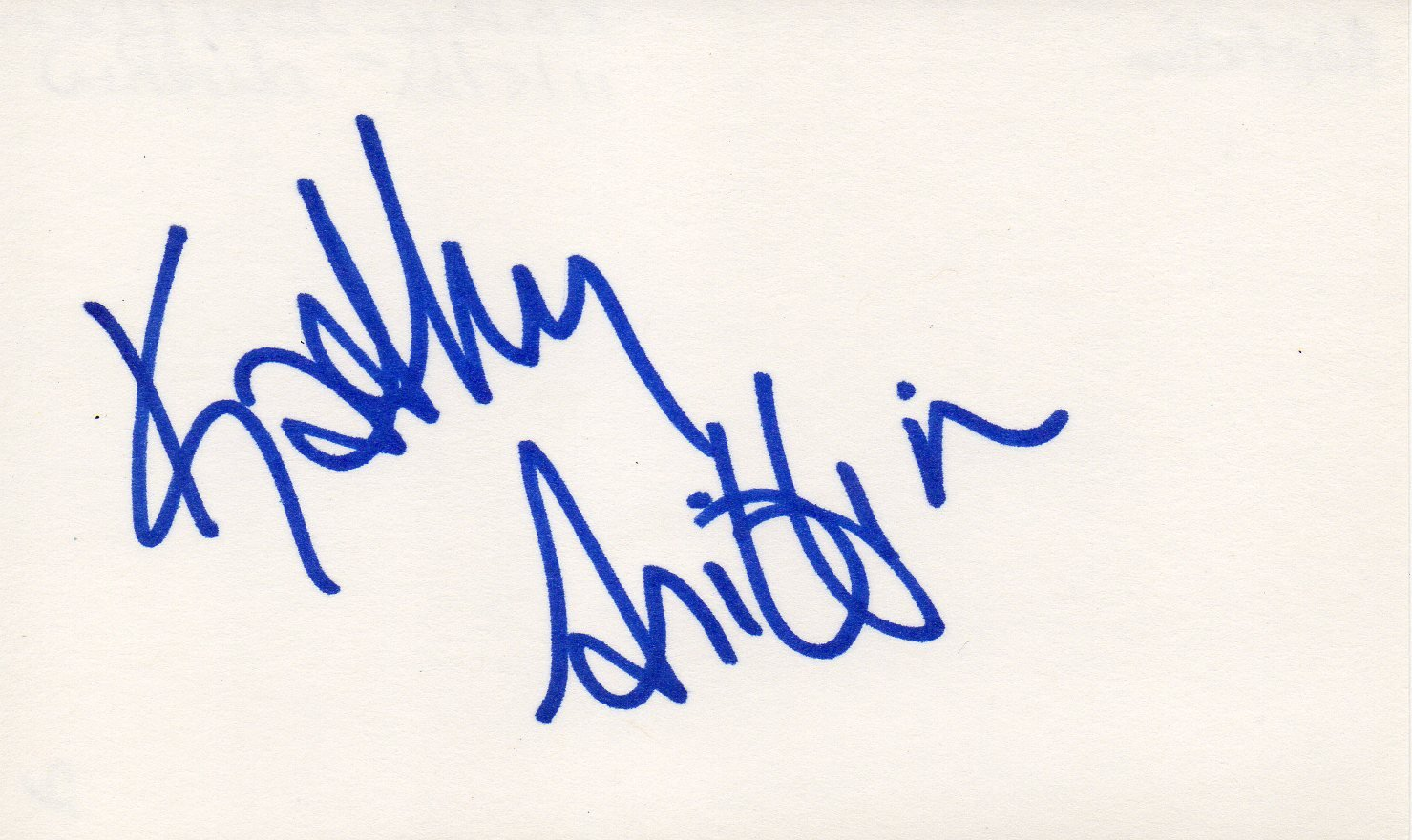 Kathy Griffin hand signed 3x5 card Comedien