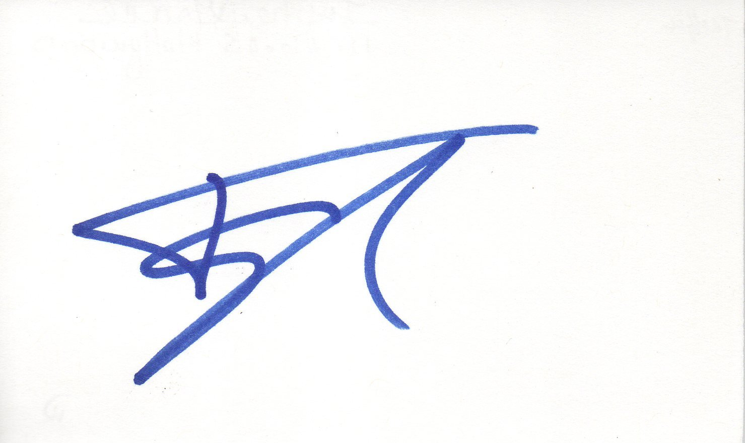 Topher Grace hand signed 3x5 card
