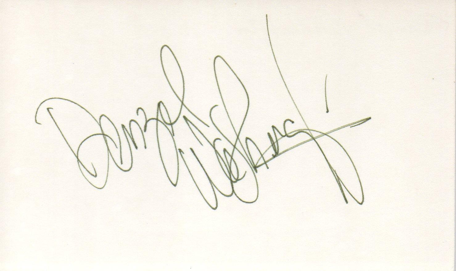 Denzel Washington hand signed 3x5 card