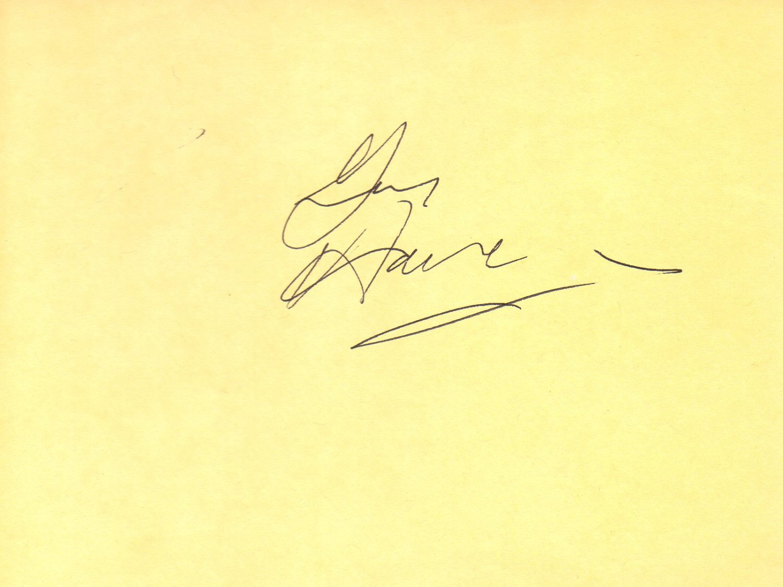 Gene Hackman hand signed 4x6 album page