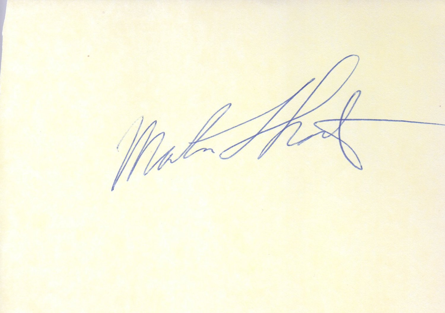 Martin Short hand signed 4x6 album page