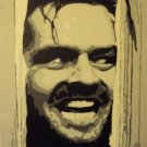 Jack Nicholson The Shining Hand Painted movie pop art 16x20 Canvas