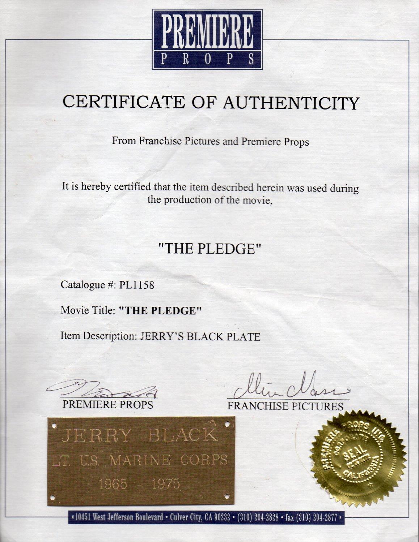 The Pledge Jack Nicholson movie prop