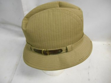 Vintage Men's London Fog Fedora Trilby Hat Size 7 Brit Tan w/ Original Tag