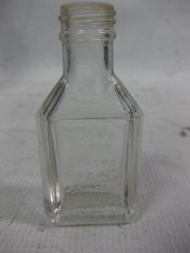 Vintage Hinds Honey and Almond Cream Clean Glass Bottle, Bloomfield, NJ