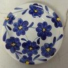 S. Giovanni Valdarno Ironstone Salad Bowl 8 7/8'' Blue Floral Pattern