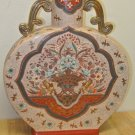 Gently Used Handpainted Chinese Porcelain Large Vase, Urn, Gold Leaf