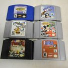 Lot 6 Nintendo N64 Game Cartridges ONLY Turok Mickeys Speedway Tom & Jerry 1080