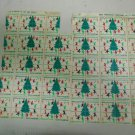 Lot 98 Total Unused 1969 U.S. Christmas Greetings Seals on Two Sheets