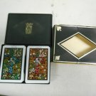 Vintage 1970 KEM Fantasy Double Deck Floral Playing Cards in Black Case Complete