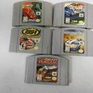 Lot 5 Nintendo N64 Racing Games, XG2, RR64, Top Gear Overdrive & Rally, Nascar