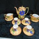 Vintage Noritake Hand Painted Lusterware Tea Set 13 Pieces Incomplete, 1950's