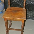 Vintage Wooden Brown Traditional Small Child's, Accent Chair