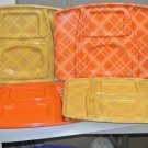 4 Vintage Retro Aladdin Temp Rite Large Sectioned Serving Trays, Picnic, Dining