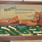 New Set 1990 SCHRADE SCRIMSHAW Ltd Edition Great American Outdoors Knife Set