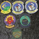 Lot 6 Vintage Military Patches United States Air Force, 354th CRS, AGS, AMS