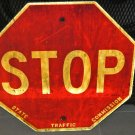 Vintage Authentic Wooden Traffic STOP SIGN, Man Cave, Family Room, Game Room