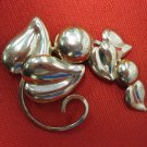 Vintage NAPIER Signed STERLING SILVER, Rose Gold Overlay Pin, Brooch