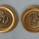 Lot of 2 Children of Norman Rockwell Copper Mini Plates