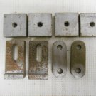 Lot 8 Vintage Machinist Toolmaker Jig Boring Bar Blocks Square, Oval & Rectangle