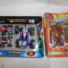 Marvel Action Figure Lot, X-Men Sabretooth Deluxe Ed, Regener8rs 8 Vehicles in 1