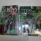 2 NIB Kiss Peter Criss Action Figures, Psycho Circus, McFarlane Toys, 1997, 1998