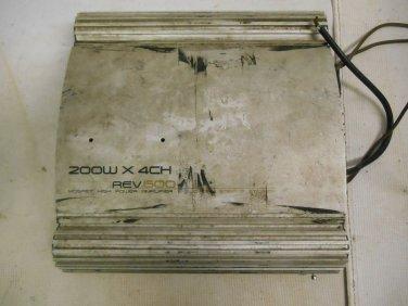 Used Boss Rev-600 200w 4 Channel Mofset High Power Car Amplifier