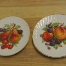 2 Vintage Old Nuremburg Barvaria Germany Porcelain FRUIT Plates, 7 3/4""