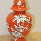 Vintage LENWILE CHINA Ardalt Japan, Lidden URN Orange Floral Hand Painted
