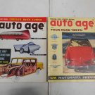 Lot 2 Vintage 1956 Auto Age Car Magazines April & August