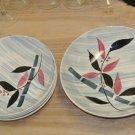 4 Vintage STETSON Creation Ceramic Bowl Set, Serving, Pasta, Soup, Bamboo